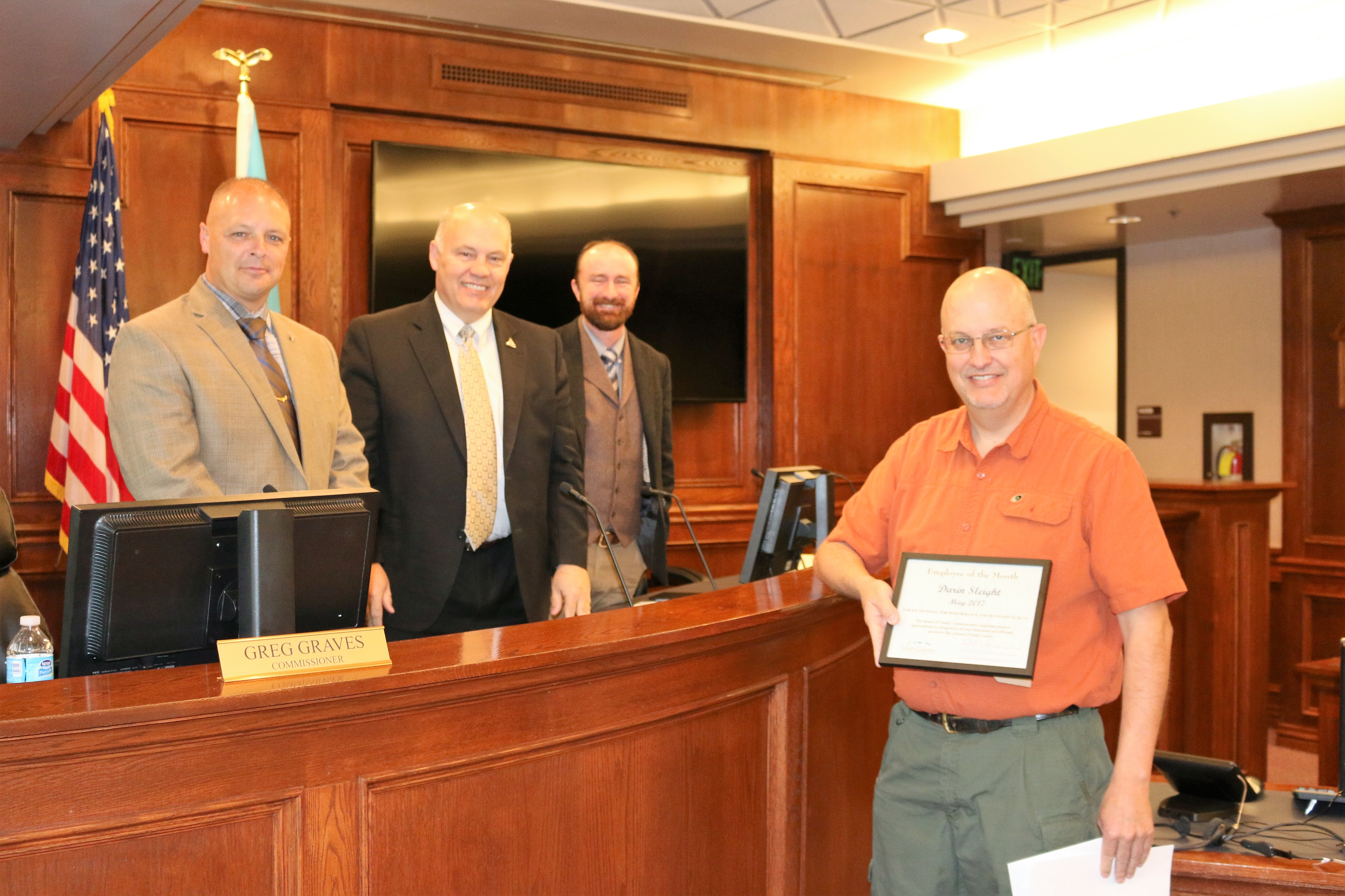 Utah County Employee of the Month Photograph (Click on image for larger photo)