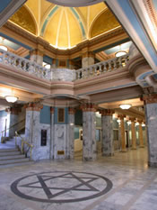 Utah County's Historic County Courthouse - View of Rotunda Star