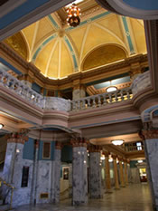 Utah County's Historic County Courthouse - Interior of the Dome